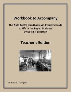 Workbook to Accompany The Auto Tech's Handbook by David J Ellingsen